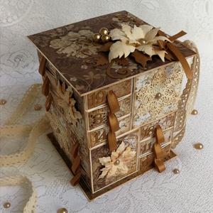 Régi idők nyomában, Karácsony & Mikulás, Otthon & Lakás, Adventi naptár, Papírművészet, Még 3 db ilyen dobozkát tudok készíteni. \nRendeld meg időben, hogy meg is tudd tölteni és legyen idő..., Meska