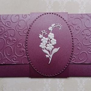 Purple boríték , Otthon & lakás, Naptár, képeslap, album, Ajándékkísérő, Férfiaknak, Naptár, jegyzet, tok, Képeslap, levélpapír, Papírművészet, Csodaszép gyöngyházfényű kartonból készült ajándékátadó boríték  bármely alkalomra. Kedvező szállítá..., Meska