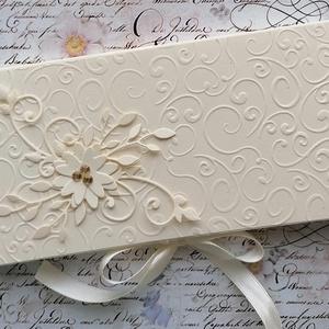 Csokidobozka , Otthon & Lakás, Papír írószer, Ajándékkísérő, Papírművészet, Csokidobozka, hogy a pénzajándék még kedvesebb legyen. Kérésre a megfelelő feliratot ráteszem, ezt a..., Meska