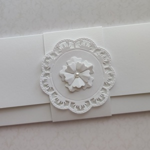 Pénzátadó boríték , Esküvő, Emlék & Ajándék, Nászajándék, Papírművészet, Hófehér ajándékátadó boríték eljegyzésre, esküvőre, de névnapra, születésnapra is alkalmas. \nMérete ..., Meska