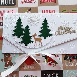 Sok boldogságot!, Karácsony, Karácsonyi ajándékozás, Karácsonyi képeslap, üdvözlőlap, ajándékkísérő, Papírművészet, Meska