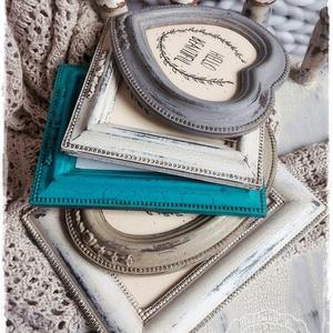 Törtfehér Vintage Képkeret 9x13 cm (fényképtartó, képtartó, nászajándék, esküvő, asztalszám, fotózás, kép) (szinharmonia) - Meska.hu