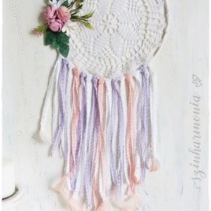 Álomfogó - Rózsaszín és Lila  LIMITÁLT! (virág, esküvő, dekoráció fotózás, babaköszöntő, bohém mandala, fotózási kellék) (szinharmonia) - Meska.hu