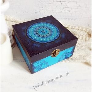 Harmónia Mandala doboz - ajándék / teás doboz / teafilter tartó / ékszertartó / emlék / keksz / nászajándék (szinharmonia) - Meska.hu