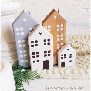 Skandináv házikók LIMITÁLT!, Otthon & lakás, Gyerek & játék, Dekoráció, Lakberendezés, Gyerekszoba, Ünnepi dekoráció, Karácsonyi, adventi apróságok, Karácsonyi dekoráció, Asztaldísz, Festett tárgyak, Festészet, ==> 12.000 Ft* összértéket meghaladó vásárlás esetén a SZÁLLÍTÁS INGYENES.  ~~~~~~~~~~~~~~~~~~~~~~~..., Meska