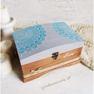 Láda - Tengerszem Mandala (emlék doboz, esküvői boríték, pénzgyűjtő, keresztelő, pénzátadó, tároló doboz, ballagás) (szinharmonia) - Meska.hu