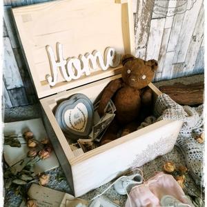 Kis Róka - Tároló- és Emlékláda (keresztelő, fotózás, ballagás, születésnap, babavárás, kislány skandináv, doboz, emlék) (szinharmonia) - Meska.hu