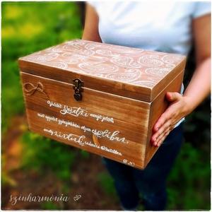 Emlékláda - Star Wars (fa, évforduló, pénzgyűjtő, fotózás, nászajándék, esküvő hatalmas tároló doboz csillagok háborúja) (szinharmonia) - Meska.hu
