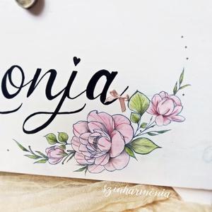 Virágos Név - Tároló- és Emlékláda (keresztelő, fotózás, ballagás, születésnap, babaváró kislány skandináv doboz, emlék) (szinharmonia) - Meska.hu