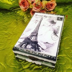 Párizsi balett, Otthon & lakás, Lakberendezés, Tárolóeszköz, Doboz, Decoupage, transzfer és szalvétatechnika, Párizsi balett doboz. :) \nMérete: 12x20x5 cm , Meska