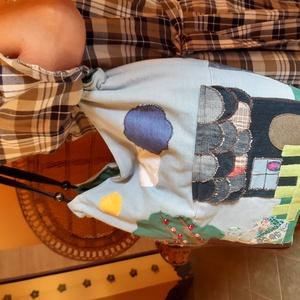 Egyedi patchwork farmer táska,válltáska - Meska.hu