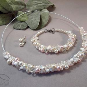 Szőlő szett esküvőre - fehér, krém és rózsaszín