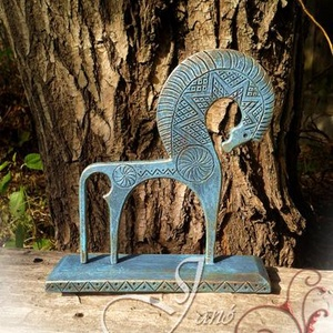 Szkíta ló rekonstrukció, Művészet, Szobor, Fém, Fémmegmunkálás, Ezt a szobrocskát egy eredeti bronz szobor mintájára készítettem, természetesen vasból.\nA szobor mag..., Meska