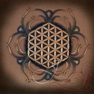 """Élet virága teljes mandala, Otthon & Lakás, Dekoráció, Mandala, Fémmegmunkálás, \""""Mélyen a Föld szívében található a virág, annak a szellemnek a forrása, amely mindent formájába köt..., Meska"""