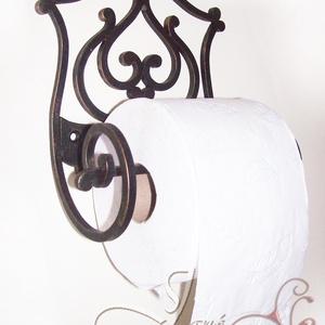 Tulipán fali WC-papír tartó, Táska, Divat & Szépség, Magyar motívumokkal, Otthon & lakás, Lakberendezés, Fémmegmunkálás, Tulipán fürdőszobai kollekcióm egyik darabja ez a fali WC-papír tartó.\n\n16 cm széles, 20 cm magas, a..., Meska