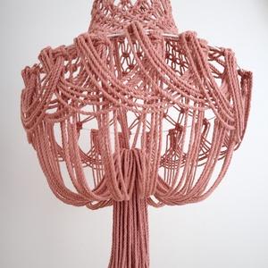 Makramé lámpa (csillár) (szkriszi) - Meska.hu