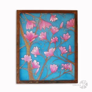 Tulipán fa - Kép Festmény Selyemfestmény Falikép, közepes méretű, Otthon & Lakás, Dekoráció, Kép & Falikép, Selyemfestés, Közepes méretű selyemfestmény, mely a reménységet, az új kezdetet jelképezi. \nTulipán fa, kézzel fes..., Meska