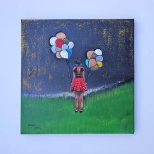 Akrilfestmény. Címe: Remény, Dekoráció, Képzőművészet, Kép, Festmény, Festészet, Remény című akril, vászon, 30x30 cm-es festményemet ajánlom szeretettel.  Soha, soha ne add fel! Ez..., Meska