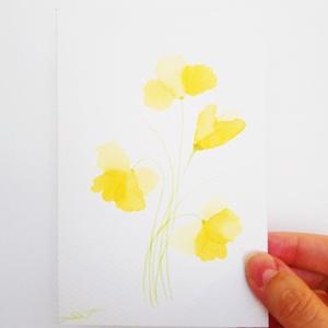 Sárga virág akvarell kép, Otthon & lakás, Képzőművészet, Festmény, Akvarell, Dekoráció, Dísz, Kép, Festészet, Ez a kis kép, egy finom és elegáns dísze lehet egy vintage stílusú helységnek. Akvarell festékkel és..., Meska