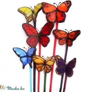 7 db bella-pille garnitúra, minden színben, üvegpálcán, Otthon & Lakás, Dekoráció, Csokor & Virágdísz, Mindenmás, Üvegművészet, Egyenként 2500ft-ba kerülnek ezek az élethű tiffany pillangók, ha többet is rendelsz, a feltüntetett..., Meska