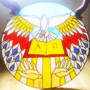 Baptista szimbólum világító kép és üvegablak - Meska.hu