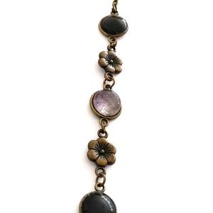 Bronz színű virágos karkötő - Lilac kollekció (Szterka) - Meska.hu