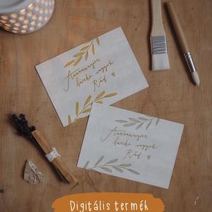"""""""Büszke vagyok Rád"""" képeslap / digitális termék, Művészet, Grafika & Illusztráció, Fotó, grafika, rajz, illusztráció, ***DIGITÁLIS TERMÉK***\n\nA6 méretű (105x148 mm) képeslap kétféle színváltozatban, melyet elektronikus..., Meska"""
