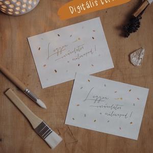 """""""Szülinap"""" képeslap / digitális termék, Művészet, Grafika & Illusztráció, Fotó, grafika, rajz, illusztráció, ***DIGITÁLIS TERMÉK***\n\nA6 méretű (105x148 mm) képeslap kétféle színváltozatban, melyet elektronikus..., Meska"""