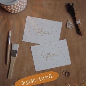 """""""Gratulálok"""" képeslap / digitális termék, Művészet, Grafika & Illusztráció, Fotó, grafika, rajz, illusztráció, ***DIGITÁLIS TERMÉK***\n\nA6 méretű (105x148 mm) képeslap kétféle színváltozatban, melyet elektronikus..., Meska"""