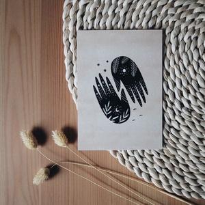 """""""Kezek"""" A6 print, Művészet, Grafika & Illusztráció, Fotó, grafika, rajz, illusztráció, A6 méretű (105x148 mm) print 300 g matt hatású 100% újrahasznosított kreatívpapíron*\n\n*A képen látha..., Meska"""