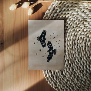 """""""Szárnyalás"""" A6 print, Művészet, Grafika & Illusztráció, Fotó, grafika, rajz, illusztráció, A6 méretű (105x148 mm) print 300 g matt hatású 100% újrahasznosított kreatívpapíron*\n\n*A képen látha..., Meska"""