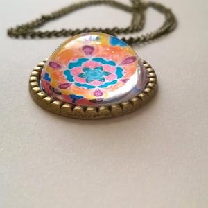 Mandala medálos nyaklánc (sztykee) - Meska.hu
