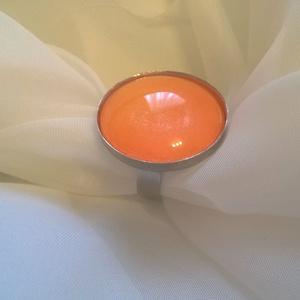 Nagy méretű narancs gyűrű (sztykee) - Meska.hu