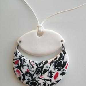 Fekete-fehér nyaklánc (sztykee) - Meska.hu