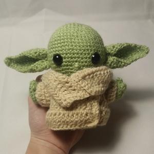 Horgolt Baby Yoda, Más figura, Plüssállat & Játékfigura, Játék & Gyerek, Horgolás, ~10cm-es horgolt Baby Yoda akril fonalból készítve., Meska