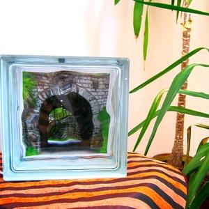 A HarMónia Lámpája 2-es, Otthon & lakás, Dekoráció, Lakberendezés, Lámpa, Fotó, grafika, rajz, illusztráció, Mindenmás, A HarMónia Lámpája egy üvegtéglából megálmodott hangulatvilágítás az otthon bármely szegletébe. A fé..., Meska
