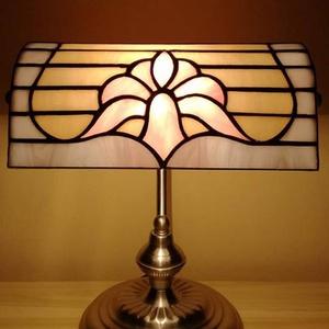 Tiffany bank lámpa, Lakberendezés, Otthon & lakás, Lámpa, Asztali lámpa, Hangulatlámpa, Üvegművészet, Tiffany technikával készült bank lámpa.\nMagassága 32 cm.\nA lámpaernyő bármilyen más mintával illetve..., Meska