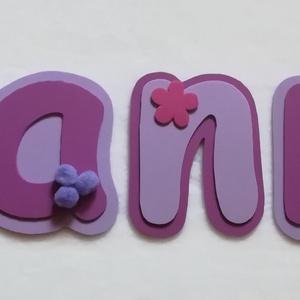 Dekorgumi név (Hanna), Gyerek & játék, Gyerekszoba, Otthon & lakás, Dekoráció, Mindenmás, Dekorgumiból készített név gyerekszobába, ajtóra, fotózáshoz, dekorációnak.\nKétoldalú ragasztóval rö..., Meska