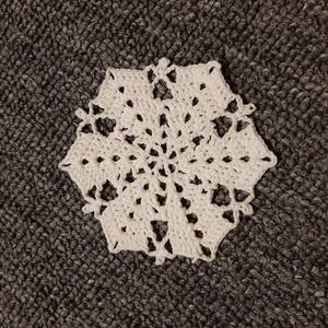 Horgolt hópehely 4., Dísztárgy, Dekoráció, Otthon & Lakás, Mindenmás, Kézzel horholt hópehely.\nÁtmérő: 8 cm\n, Meska