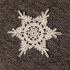 Horgolt hópehely 5., Dísztárgy, Dekoráció, Otthon & Lakás, Mindenmás, Kézzel horholt hópehely.\nÁtmérő: 10 cm\n, Meska