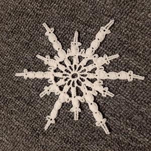 Horgolt hópehely 9., Dísztárgy, Dekoráció, Otthon & Lakás, Mindenmás, Kézzel horholt hópehely.\nÁtmérő: 10 cm\n, Meska