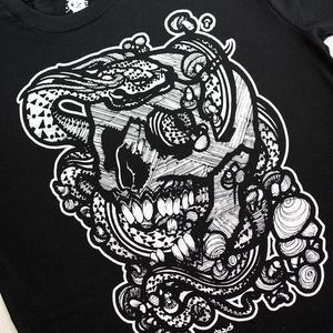 Snake Skull férfi póló, Póló, Férfi ruha, Ruha & Divat, Fotó, grafika, rajz, illusztráció, Egyedi, limitált példányszámban gyártott póló, a tetoválások klasszikus formavilágát idézi. Összesen..., Meska