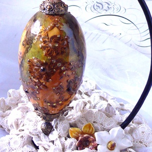 Faberge tojás imitáció (dekoráció) - otthon & lakás - dekoráció - Meska.hu