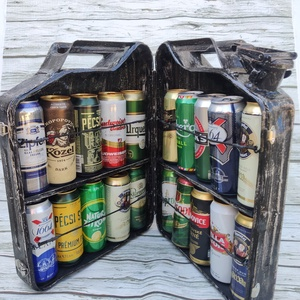 Egyedi kanna, Egyéb, Férfiaknak, Otthon & lakás, Fémmegmunkálás, Saját kezűleg készített és festett antik hatású kanna pontosan 20 db 0,5 literes sör tárolására alka..., Meska