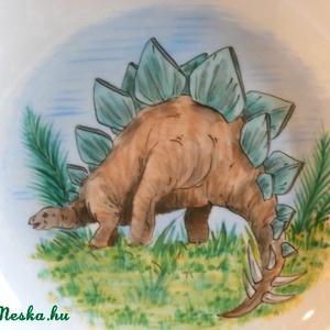 Dinoszauruszos készlet, Gyerek & játék, Konyhafelszerelés, Otthon & lakás, Bögre, csésze, Kerámia, 3 részes kerámia gyermek étkészlet,saját kézzel festve dinós mintával.\nA bögre 8 cm magas.\n\nA müzlis..., Meska