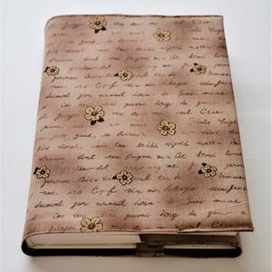 Textil könyvborító, Otthon & Lakás, Könyv, Papír írószer, Designer pamutvászonból készült ez az elegáns virág mintás textil könyvborító. Mérete: 21x40 cm (kit..., Meska