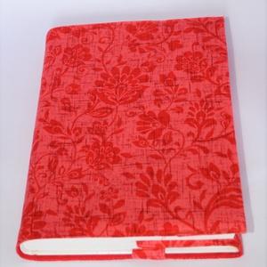 Textil könyvborító, Otthon & Lakás, Könyv- és füzetborító, Papír írószer, Designer pamutvászonból készült ez a mintás textil könyvborító. Mérete: 21x40 cm (kiterítve). A jobb..., Meska