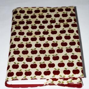 Almás könyvborító, Otthon & Lakás, Könyv- és füzetborító, Papír írószer, Vidámságot kedvelőknek készült ez az alma mintás textil könyvborító. Anyaga: pamutvászon Mérete: 22 ..., Meska