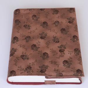 Textil könyvborító, Könyv- és füzetborító, Papír írószer, Otthon & Lakás, Varrás, Designer pamutvászonból készült ez a virágmintás textil könyvborító.\nMérete: 21,5x40 cm (kiterítve)...., Meska