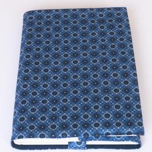 Textil könyvborító, Otthon & Lakás, Papír írószer, Könyv- és füzetborító, Varrás, Designer pamutvászonból készült ez a mintás textil könyvborító.\nMérete: 21,5x40 cm (kiterítve). A jo..., Meska